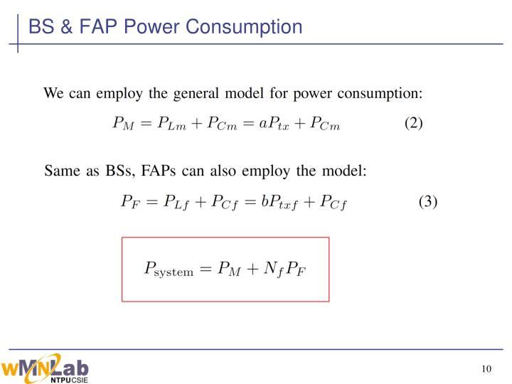 BS & FAP Power Consumption