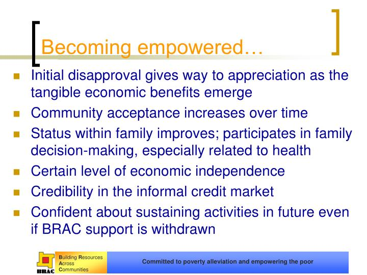 Becoming empowered…