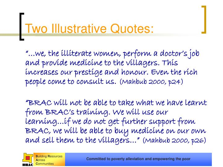 Two Illustrative Quotes: