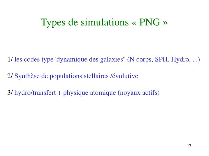 Types de simulations « PNG »