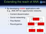 extending the reach of ana1