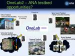 onelab2 ana testbed opportunities