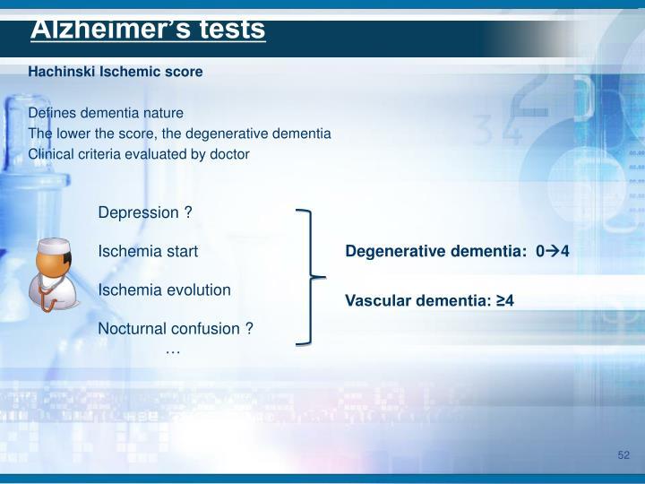 Alzheimer's tests
