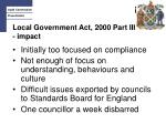 local government act 2000 part iii impact