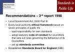 recommendations 3 rd report 1998