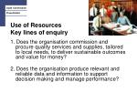 use of resources key lines of enquiry