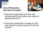 use of resources key lines of enquiry1