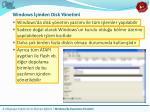 windows inden disk y netimi