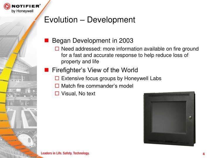 Evolution – Development