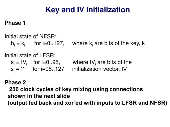 Key and IV Initialization