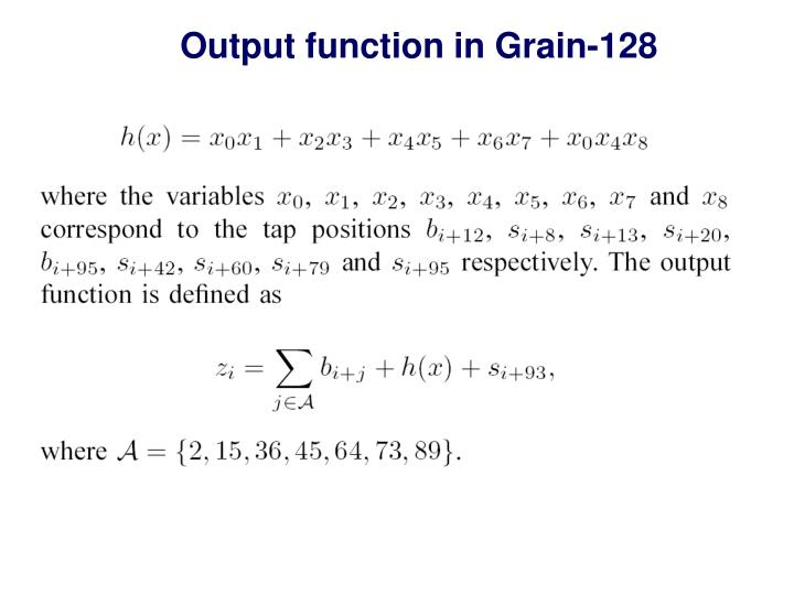 Output function in