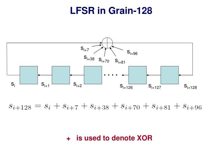 LFSR in Grain-128