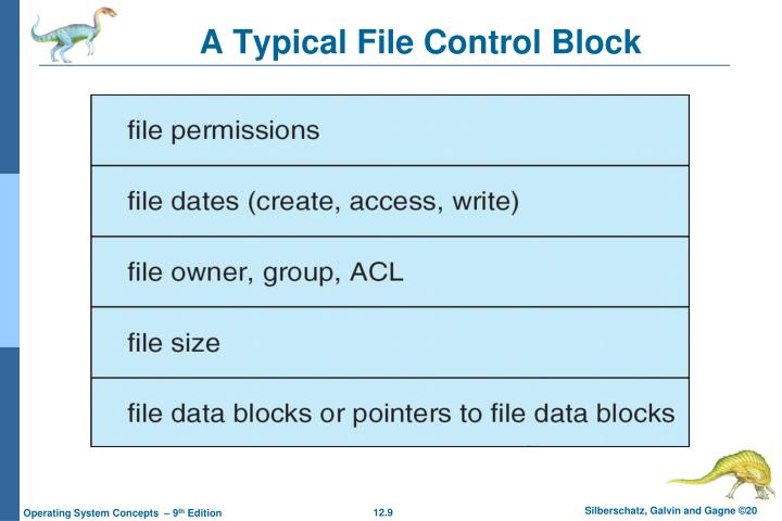 A Typical File Control Block