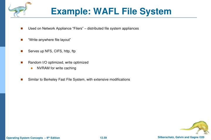 Example: WAFL File System