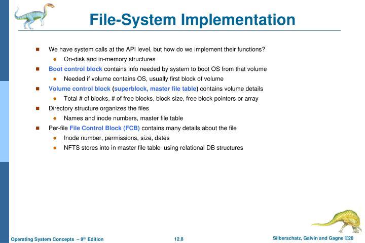 File-System Implementation