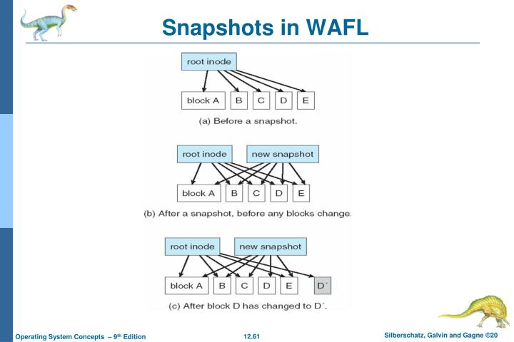 Snapshots in WAFL