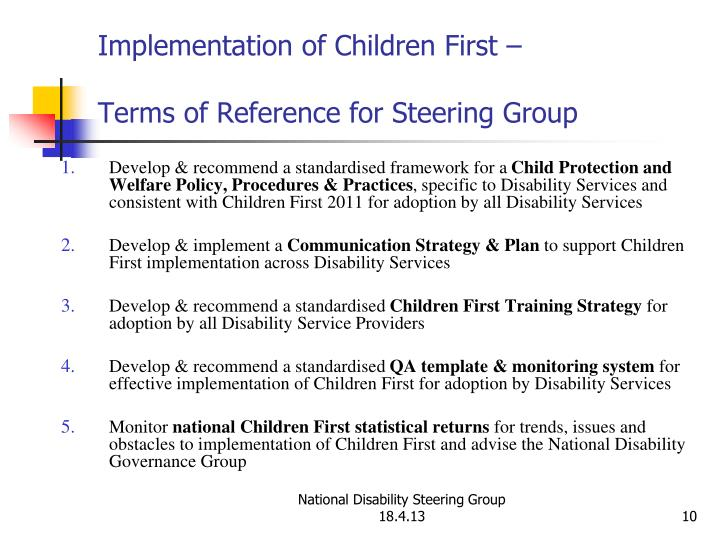 PPT - Implementation of Children First Applicable to all Disability ...