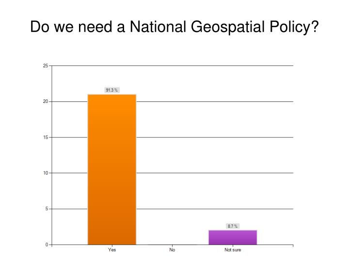 Do we need a National Geospatial Policy?