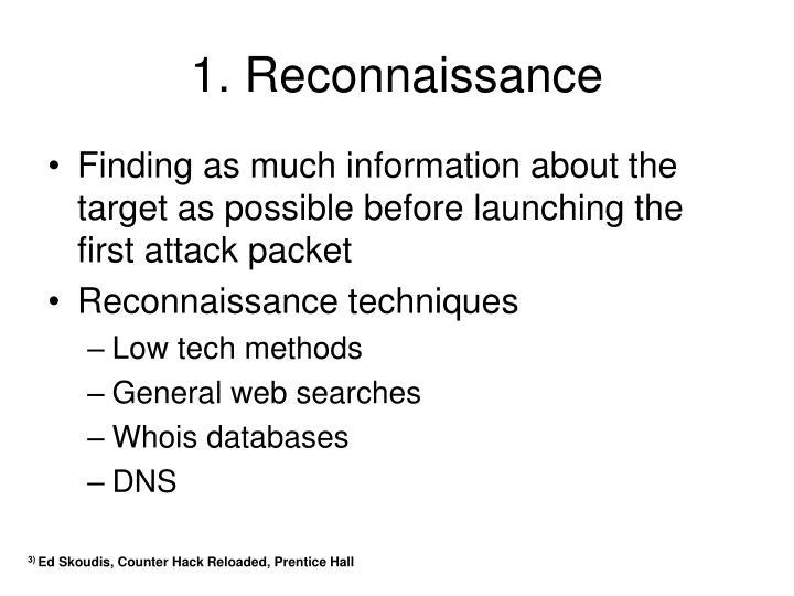 1. Reconnaissance