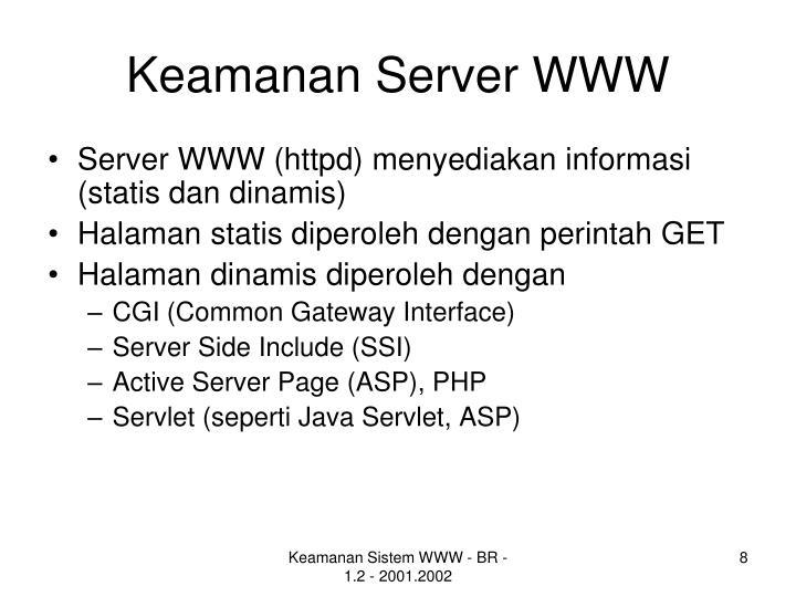 Keamanan Server WWW