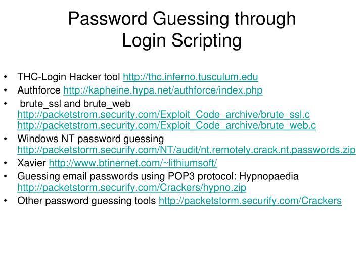 Password Guessing through