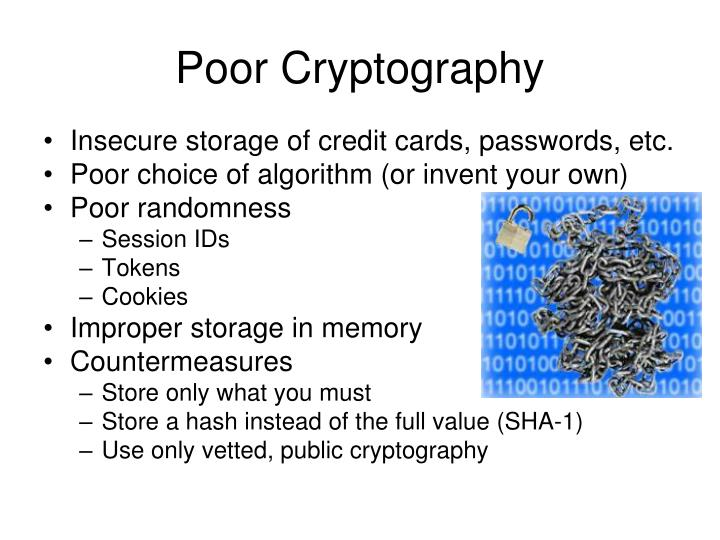 Poor Cryptography