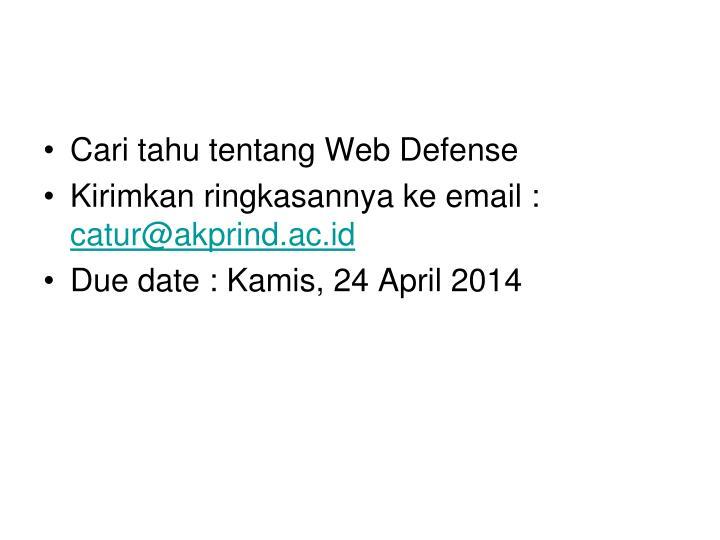 Cari tahu tentang Web Defense