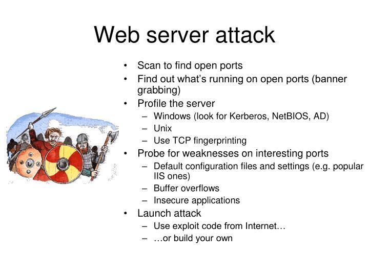 Web server attack