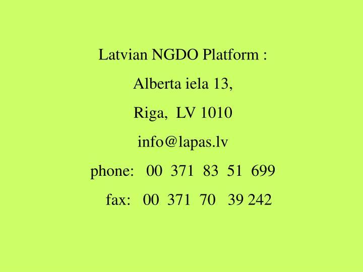 Latvian NGDO Platform :