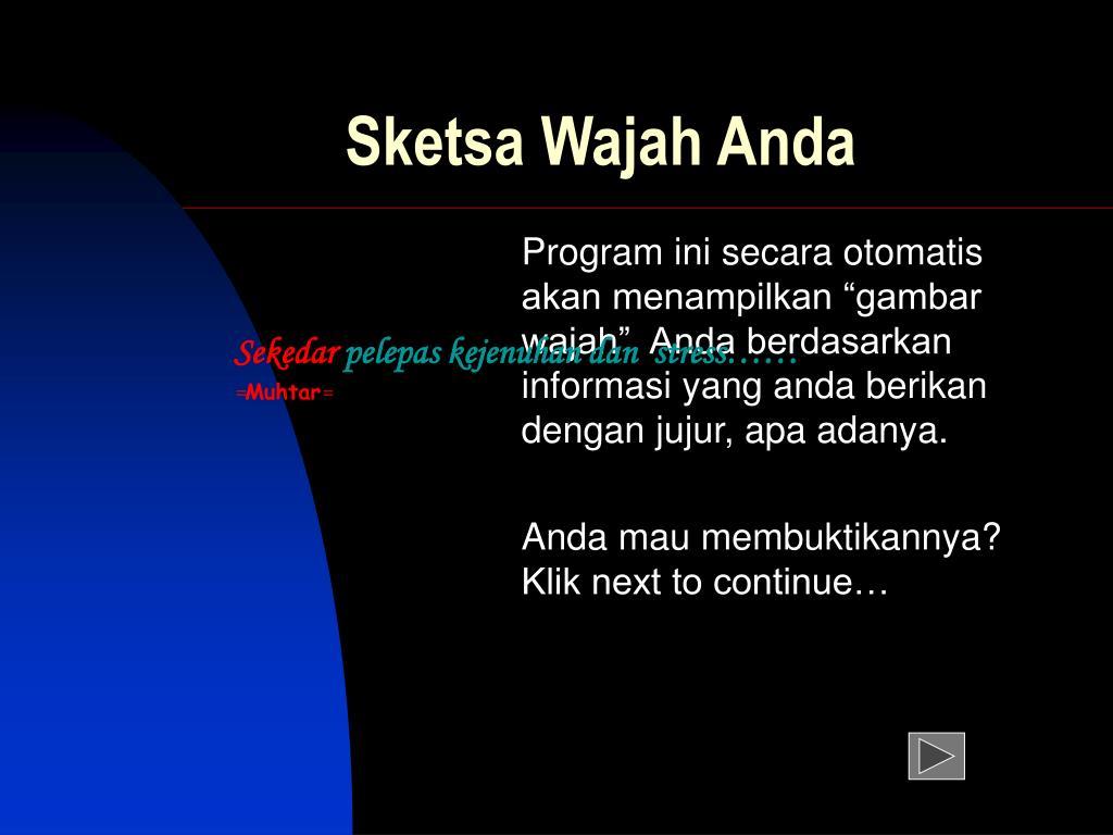 PPT Sketsa Wajah Anda PowerPoint Presentation Free