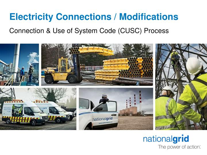 Electricity connections modifications