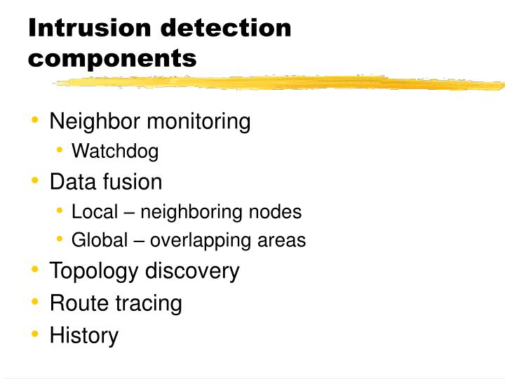 Intrusion detection components