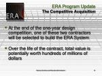 era program update the competitive acquisition1