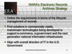 nara s electronic records archives strategy