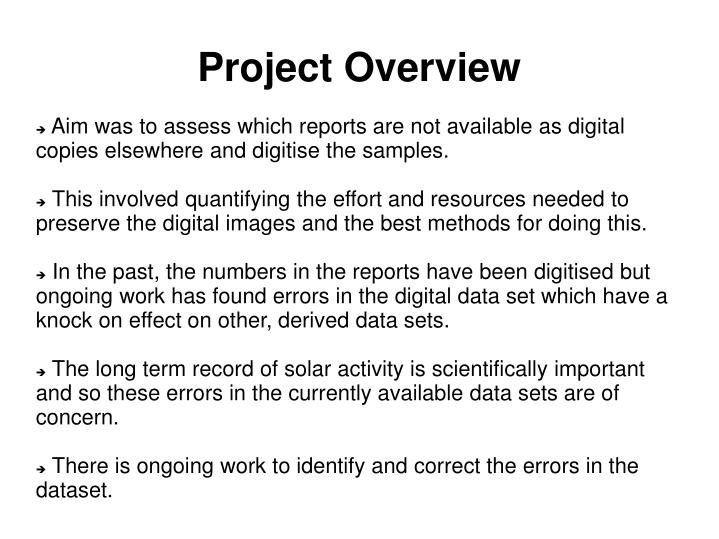 Project overview1