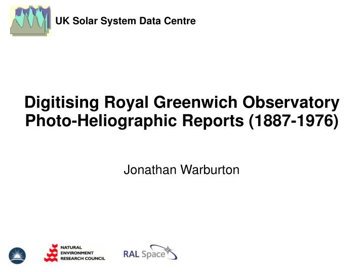 Digitising Royal Greenwich Observatory Photo-Heliographic Reports (1887-1976)