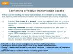 barriers to effective transmission access
