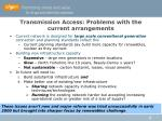 transmission access problems with the current arrangements