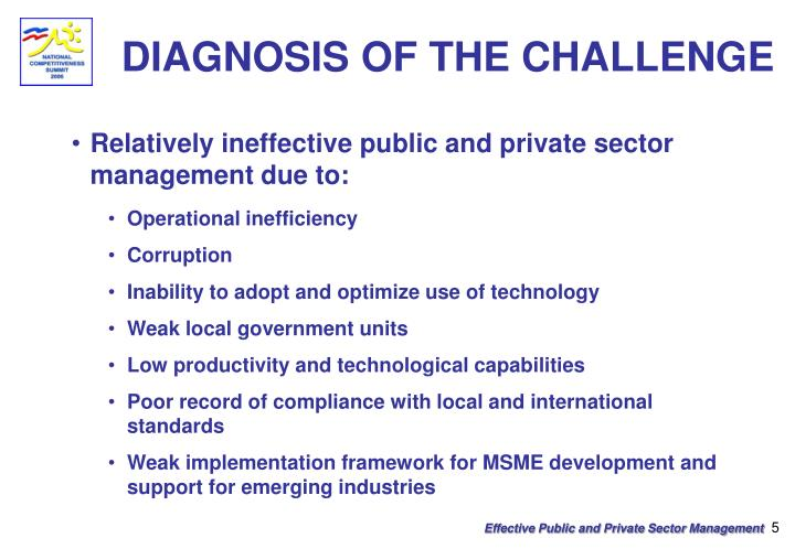 DIAGNOSIS OF THE CHALLENGE