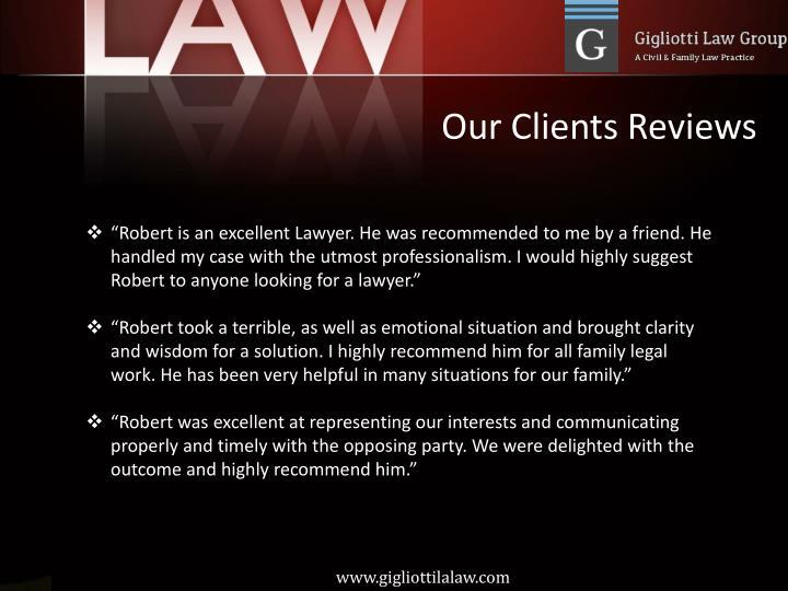 Our Clients Reviews