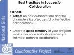 best practices in successful collaboration1