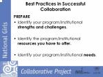 best practices in successful collaboration2