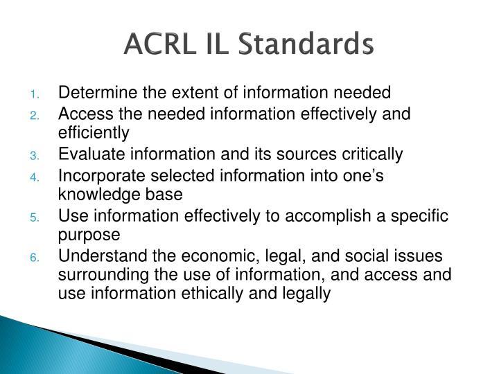 ACRL IL Standards