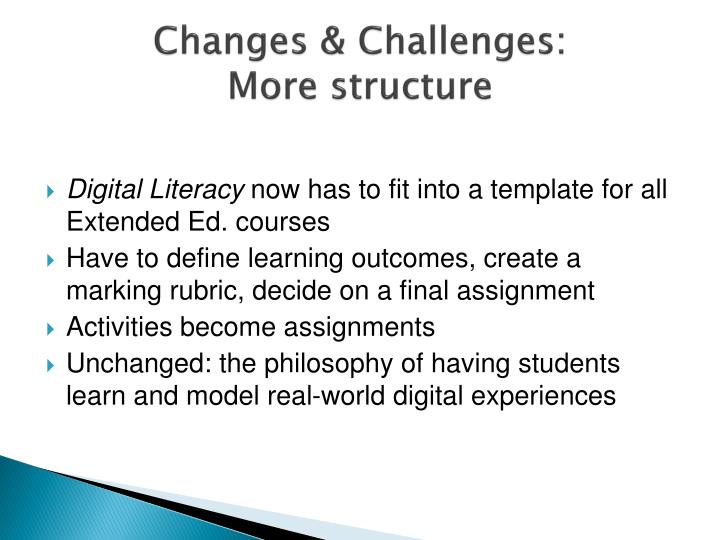 Changes & Challenges: