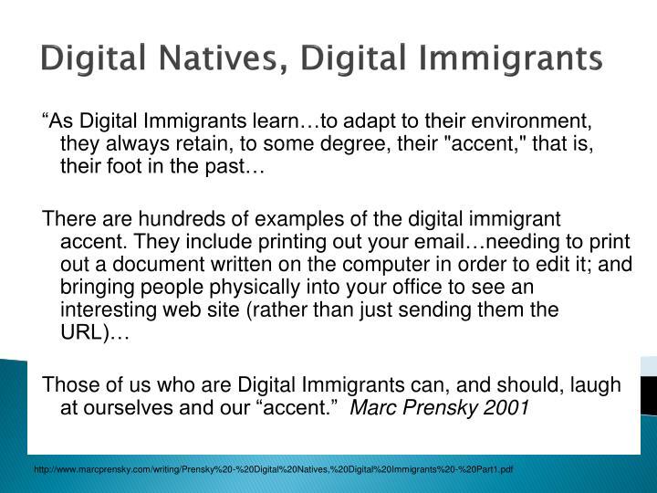 Digital natives digital immigrants
