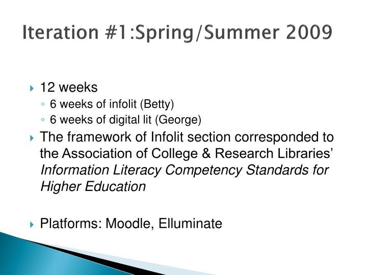 Iteration #1:Spring/Summer 2009