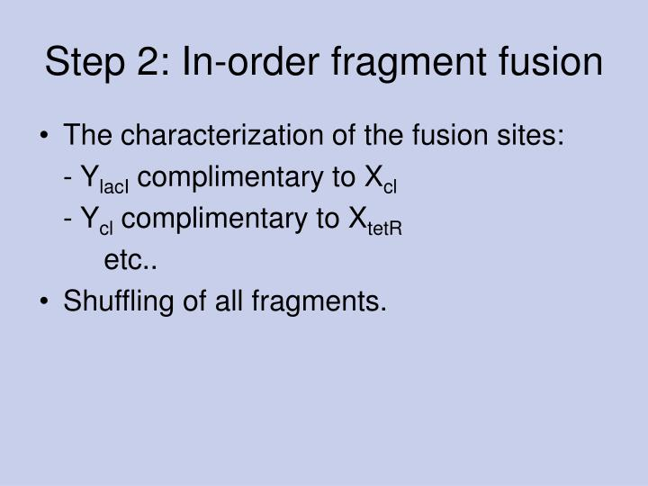 Step 2: In-order fragment fusion