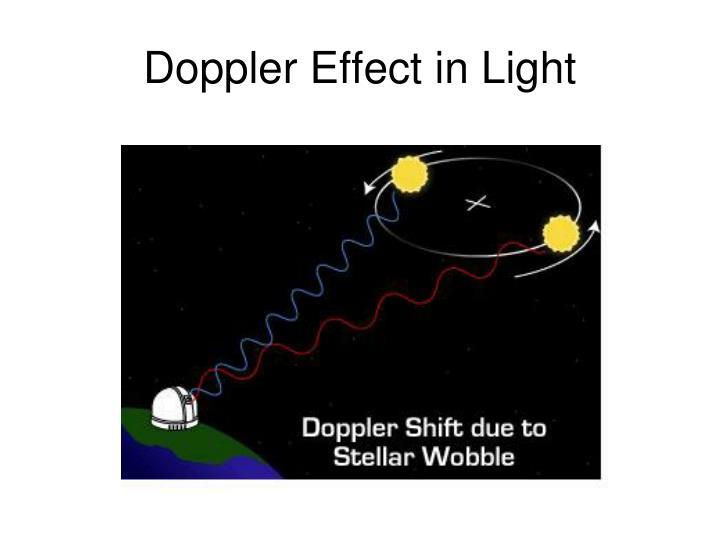 Doppler Effect in Light