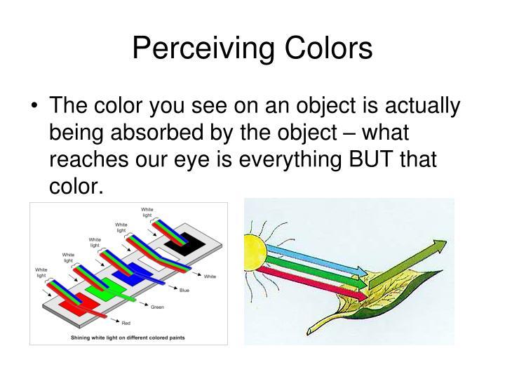 Perceiving Colors