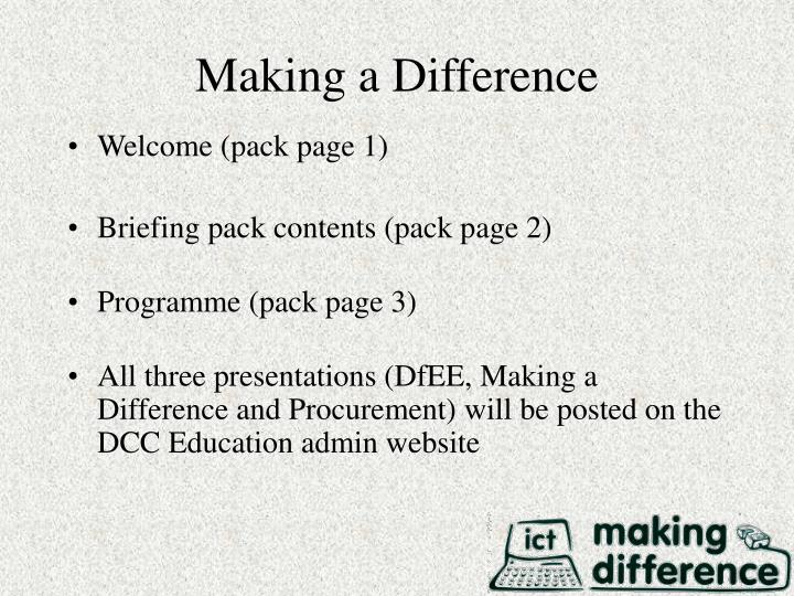 Making a difference1